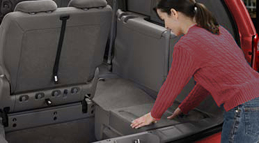 "(an exaple of ""Stow & Go"" seating"